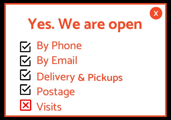 Yes, we are open